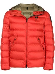 Blauer Padded Jacket Yellow And Orange