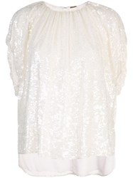 Adam By Adam Lippes Sequin Embellished Top White