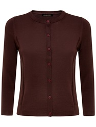 Jaeger Gostwyck Detail Cardigan Chocolate
