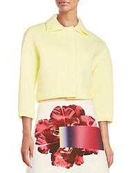 Carolina Herrera Knit Jacket Bright Yellow