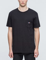 Maison Kitsune Tricolor Fox Patch S S T Shirt