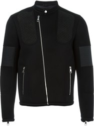 Neil Barrett Panelled Biker Jacket Black