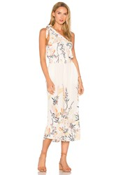Free People Island Time Asymmetrical One Piece Ivory