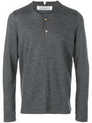 Individual Sentiments Button Placket Jumper Grey