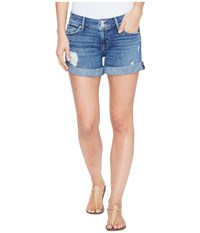 Hudson Croxley Mid Thigh Flap Pocket Shorts In High Hopes High Hopes Women's Shorts Blue