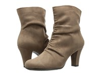 Aerosoles Good Role Taupe Fabric Women's Boots
