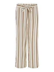 Maison De Nimes Stripe Side Trim Trouser White