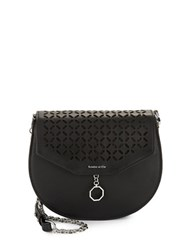 Louise Et Cie Jael Leather And Suede Crossbody Black