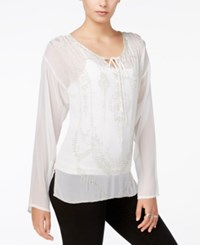 Fair Child Sheer Beaded Top A Macy's Exclusive White