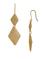 Lord And Taylor Gold Rush 14K Pdc Yellow Gold Diamond Shaped Dangling Earrings