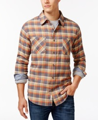 Weatherproof Long Sleeve Plaid Brushed Flannel Shirt Charcoal