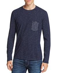 Velvet Blayne Striped Pocket Tee Navy