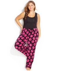Hello Kitty Plus Size Spendid Colors Plush Pajama Pants Black
