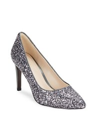 Cole Haan Amelia Grand Pointed Toe Glitter Stiletto Heels Gunmetal