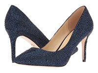 Jl By Judith Leiber Miriam Navy Suede Women's Shoes Blue
