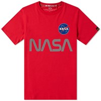 Alpha Industries Nasa Reflective Tee Red