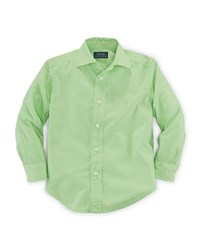 Ralph Lauren Childrenswear Long Sleeve Custom Fit Poplin Shirt Size 2 7 Girl's Size 5 Kiwi Lime