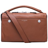 Kurt Geiger Emma Leather Bowling Bag Tan