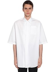 Jil Sander Oversized Cotton Poplin Shirt Ivory White