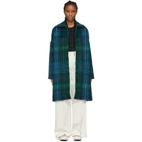 Ymc Blue And Green Cocoon Coat