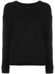 Majestic Filatures Crew Neck Sweatshirt Black