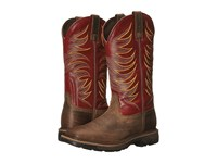 Ariat Workhog Wide Square Toe Tall Ii Distressed Brown Ruby Red Men's Work Boots Tan