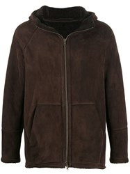 Salvatore Santoro Shearling Lined Coat Brown