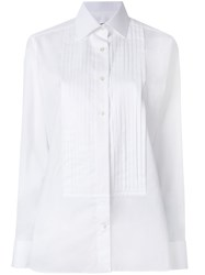 Tom Ford Pleated Placket Shirt Cotton White