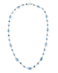 Margo Morrison Opal And Agate Stone Necklace Blue