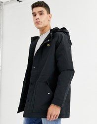 Lyle And Scott Microfleece Lined Parka Coat Black