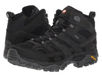 Merrell Moab 2 Smooth Mid Waterproof Black Hiking Boots
