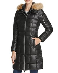 Marc New York Lindsay Fur Trim Down Coat Black