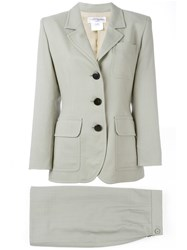 Yves Saint Laurent Vintage Two Piece Skirt Suit Nude And Neutrals