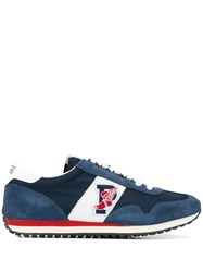 Polo Ralph Lauren Lace Up Logo Sneakers Blue