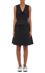 Proenza Schouler Women's Peplum Waist Poplin Dress Black