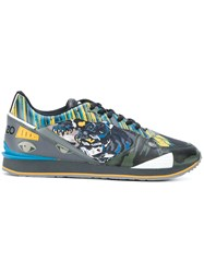 Kenzo Flying Tiger K Run Sneakers Polyester Rubber Green