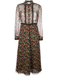 Red Valentino Floral Print Shirt Dress Multicolour