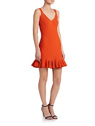 Elle Sasson Alice Ruffle Dress Orange