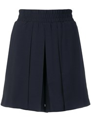 Emporio Armani Pleated Mini Skirt Blue