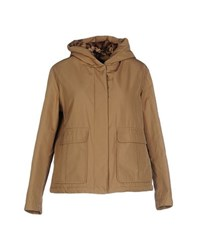 Blue Les Copains Coats And Jackets Jackets Women Beige