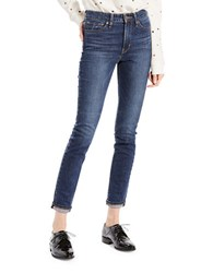 Levi's Skinny Cropped Jeans Medium Blue