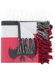 Undercover Tasseled Scarf Red