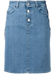Closed Fitted Denim Skirt Blue