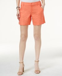 Inc International Concepts Scalloped Edge Shorts Only At Macy's Rose Coral