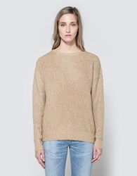 Callahan Heathered Boyfriend Sweater Camel