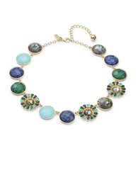 Kate Spade Peacock Way Stone Accented Statement Necklace Multicolor