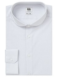 John Lewis Kin By Polka Dot Slim Fit Shirt White