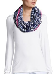 Lilly Pulitzer Riley Infinity Scarf Bright Navy Multi