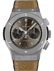 Hublot 537.Ni.7417.Vr Classic Fusion Automatic Stainless Steel And Leather Strap Watch