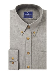 Chester Barrie Baden Flannel Slim Fit Button Down Grey